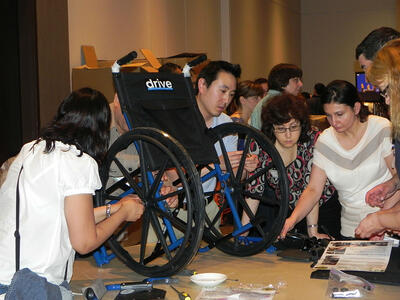 Bonding for a Cause Event - Wheelchair Building