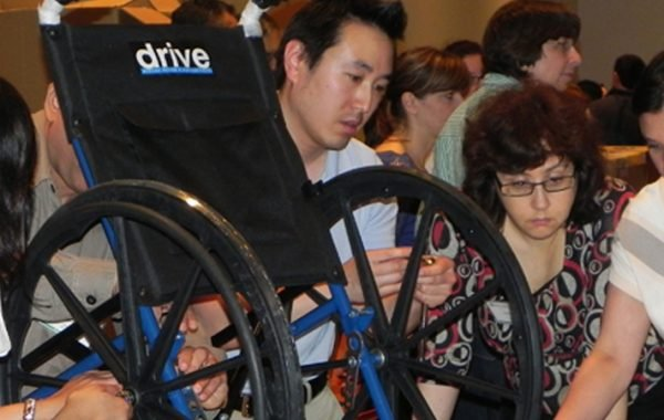 BONDING FOR A CAUSE: WHEELCHAIR BUILDING
